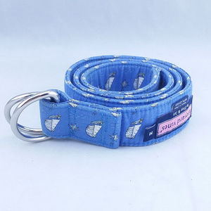 Vineyard Vines Medium Cotton Belt Blue Ships Boats